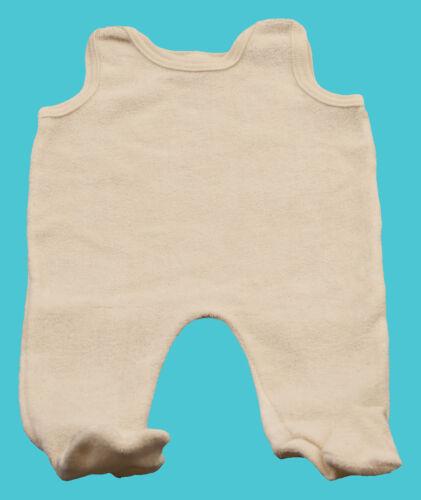 Baby Strampler Achselstrampler  Baumwolle Frottee natur Mädchen Jungen Kleidung