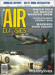 Air-Classics-Sept-85-Douglas-Skyray-De-Havilland-Mosquito-Gooney-R4D-6S-Airplane