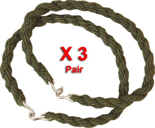 3 PAIRS TROUSER TWISTS TWIST TWISTIES ELASTIC LEG TIES ARMY CADET MILITARY 3 X