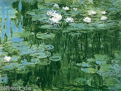 ZEIT4BILD Claude Monet WASSERLILIEN Seerosen BILDER LEINWAND REPRODUKTION