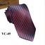 Classic-Red-Black-Blue-Mens-Tie-Paisley-Stripe-Silk-Necktie-Set-Wedding-Jacquard thumbnail 59
