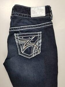 Maurices-Premium-Capri-Thick-Stitch-Stretch-Womens-Jeans-Sz-3-4