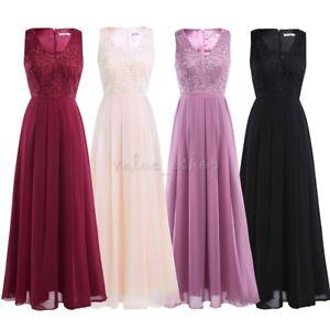 Women-Long-Chiffon-Evening-Party-Prom-Formal-Cocktail-Wedding-Bridesmaid-Dress