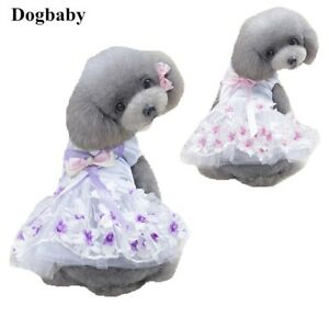 Dog-Puppy-Dress-For-Smaller-Breeds-Flower-Tutu-Pink-or-Purple