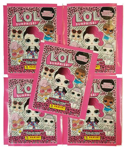 PANINI LOL L.O.L surprise Sticker 2 HYBRID 5 POCHETTES 20 stickers 5 Trading Cards