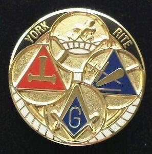 Freemason Masonic York Rite Lapel Pin Ebay