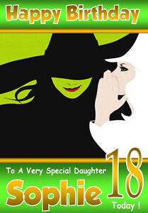 Image Is Loading WICKED The Musical Personalised Birthday Card ANY NAME