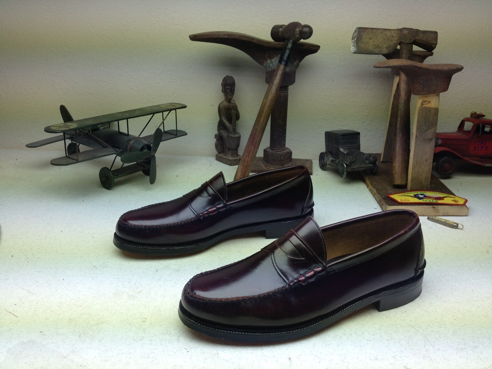 negozio all'ingrosso MADE IN USA JOHNSTON MURPHY BURGUNDY LEATHER LEATHER LEATHER ARISTOCRAT SLIP ON LOAFERS 11.5 M  shopping online di moda
