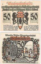 Germany 50 Pfennig 1921 Notgeld Norden AU-UNC Banknote - 1