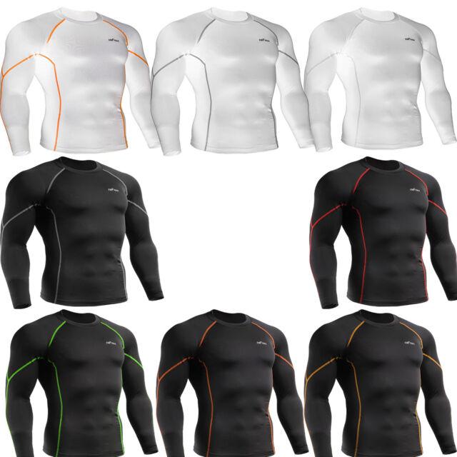 Mens Womens UV cut Compression skin tight shirts Base layer rash guard Top S~2XL