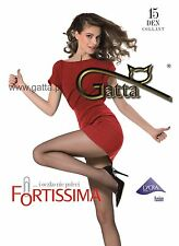 Run resistant pantyhose GRAPHITE 15 den Fortissima by Gatta SMALL size hosiery