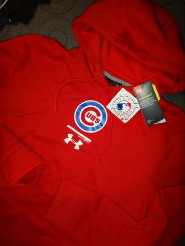 UNDER ARMOUR STORM CHICAGO CUBS BASEBALL COLDGEAR HOODIE SIZE L MEN NWT $73.99