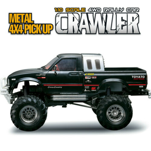 HG P407 1//10 2.4G 4WD Rally RC Car for TOYATO Metal 4X4 Pickup Truck Rock
