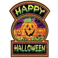 Happy Halloween Sign Set Of 2 Decoration