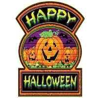 Happy Halloween Sign Set Of 2 Decoration
