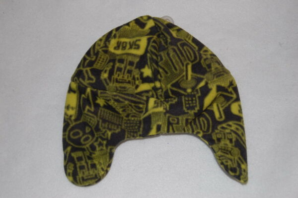 5a5d06a044e Toddler Boys Winter Hat ABSTRACT GRAPHIC FLEECE Earflaps SKATEBOARD Robot  SKULL