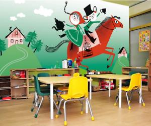 3D Boy Girl Horse 721 Wall Paper Murals Wall Print Wall Wallpaper Mural AU Kyra
