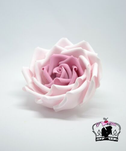 """4/"""" fait à la main Mariage Comestibles cake topper Rose vintage pâte de sucre rose"""