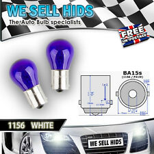 2x 1156 P21W 12V HALOGEN BULBS WHITE VW GOLF AUDI DRL FOG CANBUS ERROR FREE
