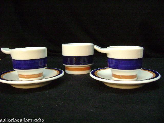 Tasses du café' richard ginori en porcelaine années '70 vintage moderne