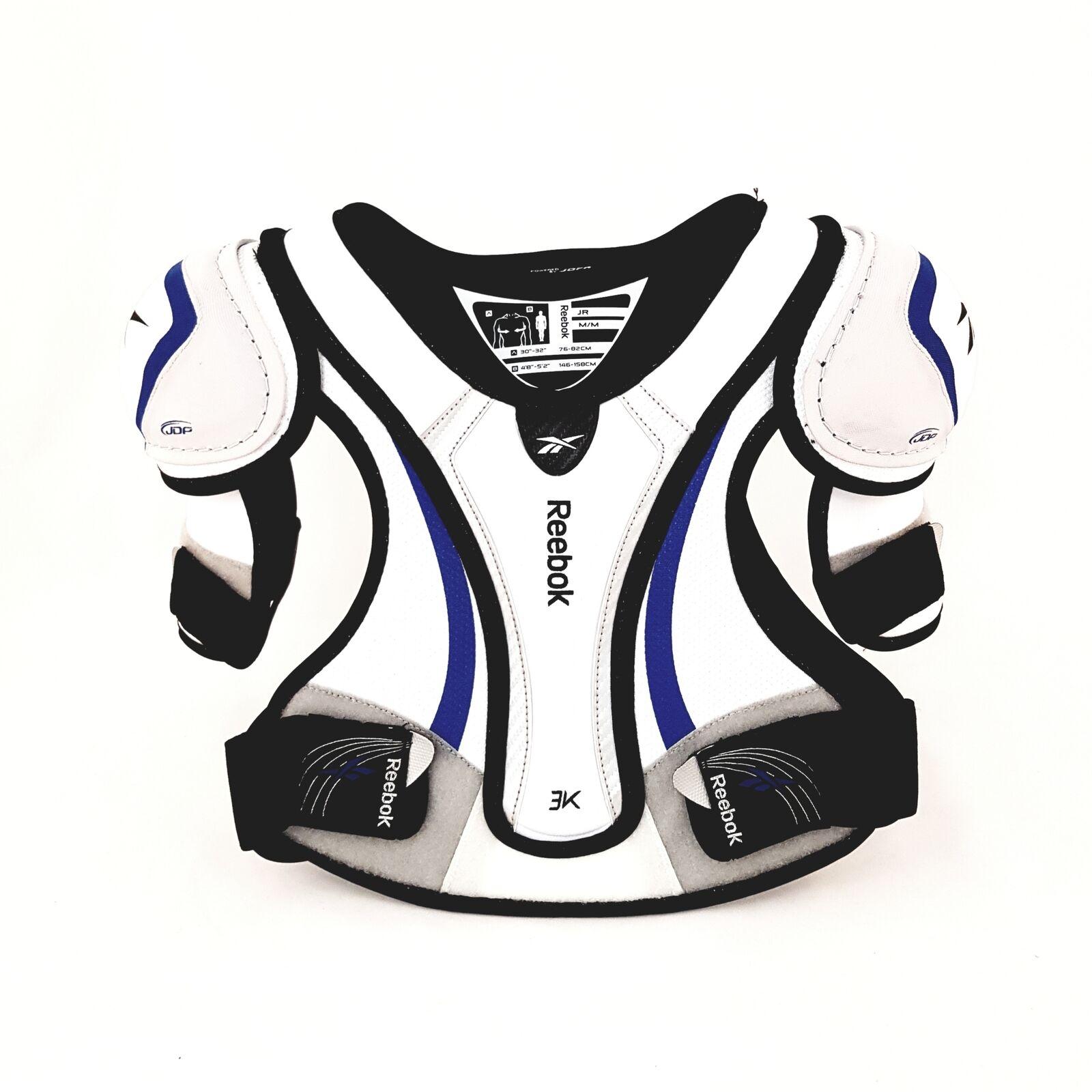 Reebok 3K White Edition Junior Shoulder Pads