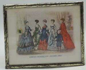 Antique-1869-Godey-039-s-Lady-039-s-Book-Fashion-Advertising-Print-Lithograph
