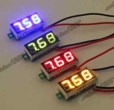 New Mini LED Digital Volt Meter Voltmeter Panel DC 2.5~30V UK Seller
