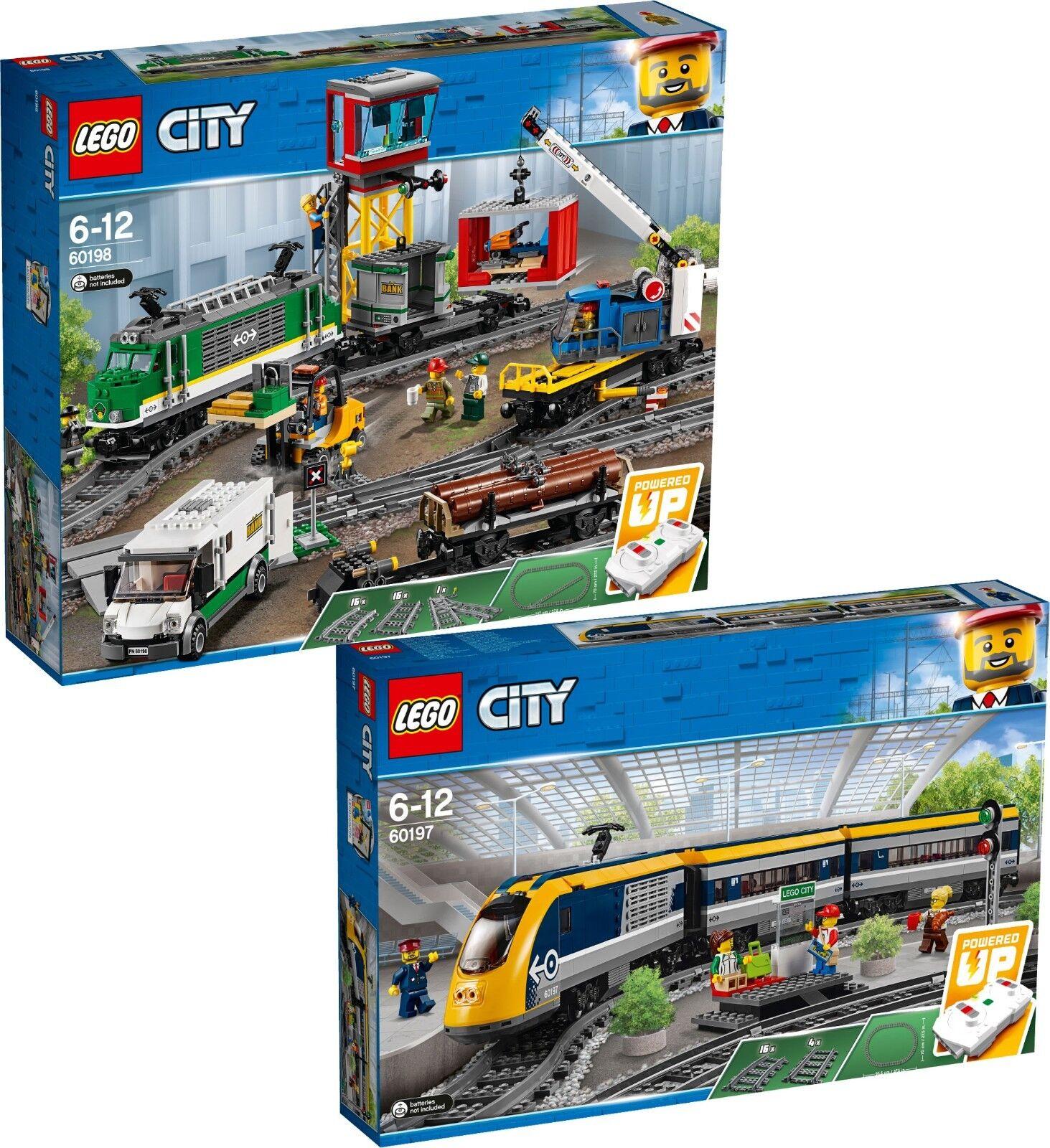 LEGO City 60198 TRENO MERCI CARGO TRAIN e 60197 treno n9/18