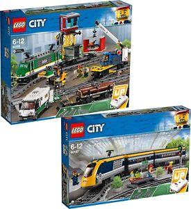 Train cargo cargo Lego City 60198 et train voyageurs N ° 60197 N9 / 18