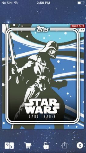 Topps Star Wars Digital Card Trader Japanese Scrolls Pack Art Insert