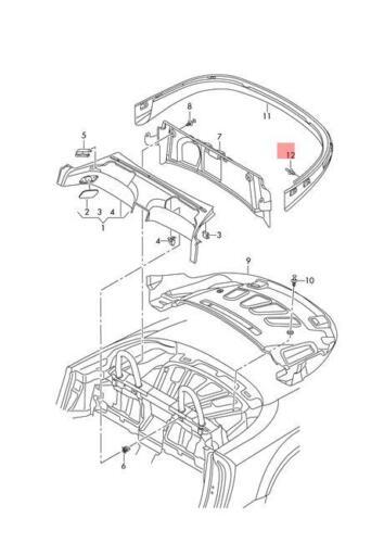 Genuine VW//Audi SKODA SEAT Arteon Atlas Beetle Spreader Rivet 10pcs N0385494