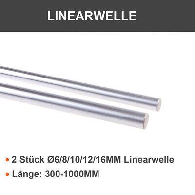 2 Stück 400mm Ø8mm Linearwelle Präzisionswellen gehärtet Linearachse Welle CNC