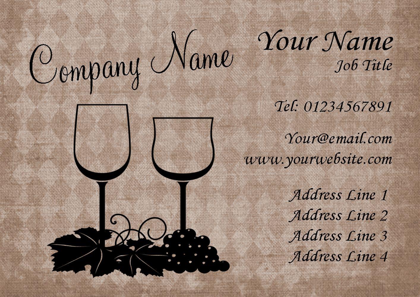 Le vin et raisin cartes de visite visite de personnalisées 94ed99