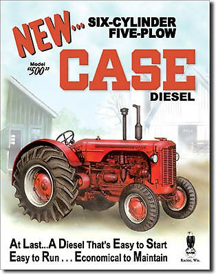 Case Farm Tractors Diesel Model 500 Metal Sign Tin New Vintage Style USA  #1169