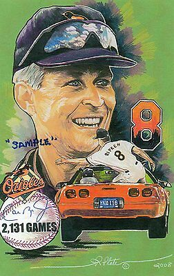 CAL RIPKEN JR. 2,131 GAMES  ART PRINT LTD 88
