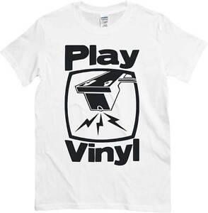 Puntina BiancaImmagine Dj T Shirt Play VinylMaglietta Stencil gbf76y
