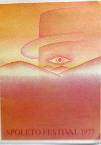 Jean-Michel Folon Poster for Spoleto Festival in France 1977 16x11