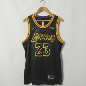 Details about Men Los Angeles Lakers #23 LeBron James Black City Edition Wish Stitched Jersey