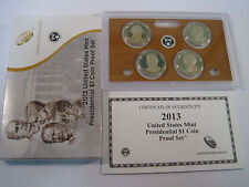 2013 PRESIDENTIAL $1 GOLDEN DOLLAR GEM PROOF DCAM 4 COIN SET with box and COA
