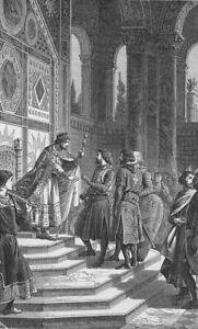 PLAQUE MÉTAL  roi de France   30 X 20 CM