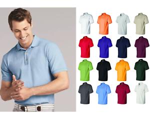 Men-039-s-POLO-Shirt-100-ring-spun-HEAVY-cotton-pre-shrunk-ringspun-cotton-S-2XL