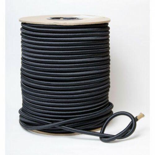 Strong Round Elastic Cord P 2958610-Black-M per 100 metre roll