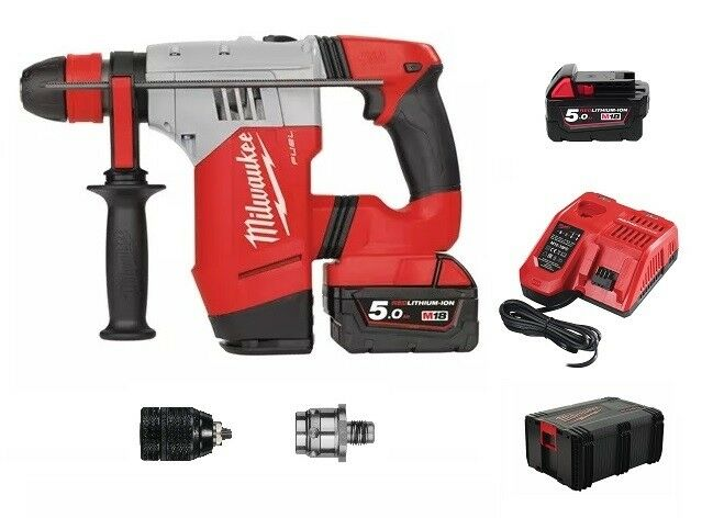 Milwaukee FUEL™ M18 CHPX  4,0J Akku-Kombihammer 18V+ 2x 5,0Ah Akku+ Lader+HD-Box