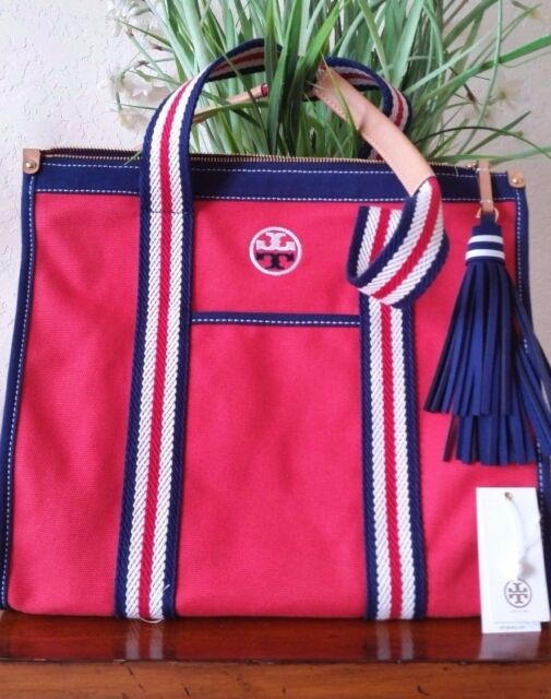 f974d60d90c Tory Burch Embroidered T Tote Cherry Apple Style 35910 Authentic for ...