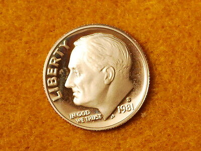 1981 S Roosevelt Dime 10c Gem Deep Cameo Proof CN-Clad Roll 50 US coins Type 1