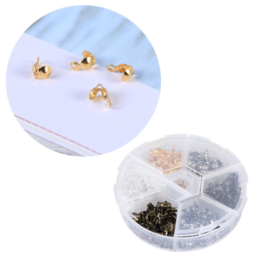 1 Box Handgemachter Schmuck Eisenschnalle Zubehör Set Eisen Muschelschale Perle