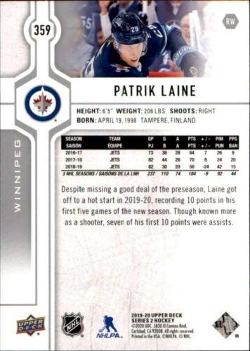 Winnipeg Jets 2019-20 Upper Deck Series 2 #359 Patrik Laine