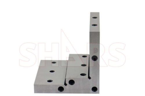"""Shars Angle Plate 4x4x4x1x1//2/"""" Precision Steel Ground 0.0002/"""" w Tapped Holes"""