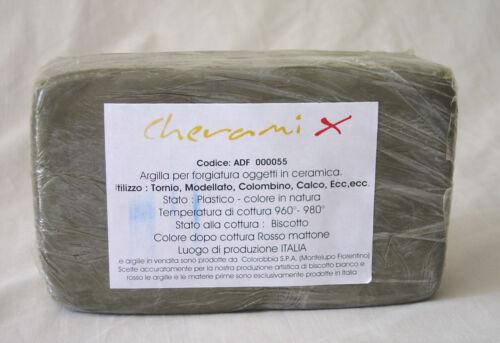 ARGILLA ARTISTICA KG. 1,5 -ROSSA- PRODOTTA IN ITALIA CON MATERIE PRIME ITALIANE
