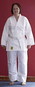 Judoanzug-Judo-Anzug-fuer-Kinder-weiss-Reiskornwebung-Gr-130-neu-Mod-14
